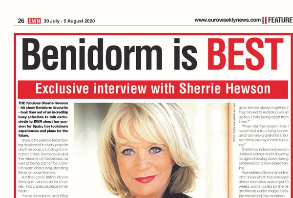 Sherrie talks to Euro Weekly News