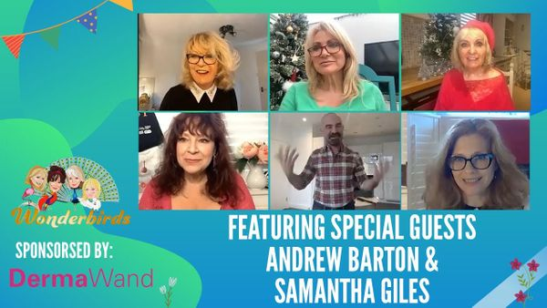 Episode 107 - Andrew Barton reopens his salon, shows us hair products. Samantha Giles discusses her book